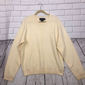 POLO GOLF sz XL Ivory Sweater Wool/Cashmere Blend